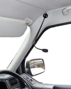 Gooseneck Microphone shown on RHD vehicle