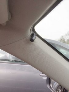 Microphone shown on left side of vehicle